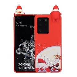 Santa Claus Elk Christmas Xmax Soft 3D Doll Silicone Case for Samsung Galaxy S20 Ultra