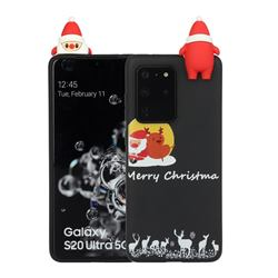 Santa Elk on Moon Christmas Xmax Soft 3D Doll Silicone Case for Samsung Galaxy S20 Ultra