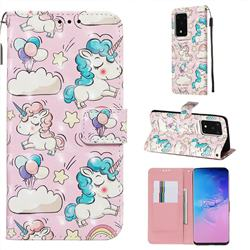 Angel Pony 3D Painted Leather Wallet Case for Samsung Galaxy S20 Ultra / S11 Plus