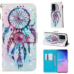ColorDrops Wind Chimes 3D Painted Leather Wallet Case for Samsung Galaxy S20 Ultra / S11 Plus
