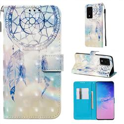 Fantasy Campanula 3D Painted Leather Wallet Case for Samsung Galaxy S20 Ultra / S11 Plus