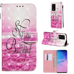 Beautiful 3D Painted Leather Wallet Case for Samsung Galaxy S20 Ultra / S11 Plus