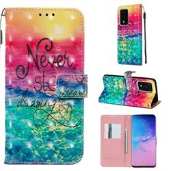 Colorful Dream Catcher 3D Painted Leather Wallet Case for Samsung Galaxy S20 Ultra / S11 Plus
