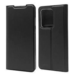 Ultra Slim Card Magnetic Automatic Suction Leather Wallet Case for Samsung Galaxy S20 Ultra / S11 Plus - Star Grey