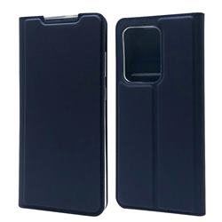Ultra Slim Card Magnetic Automatic Suction Leather Wallet Case for Samsung Galaxy S20 Ultra / S11 Plus - Royal Blue
