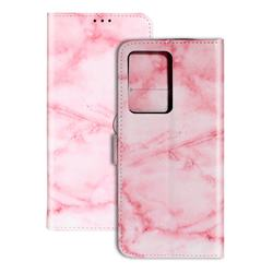 Pink Marble PU Leather Wallet Case for Samsung Galaxy S20 Ultra / S11 Plus