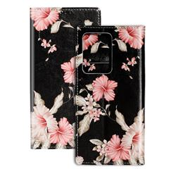 Azalea Flower PU Leather Wallet Case for Samsung Galaxy S20 Ultra / S11 Plus