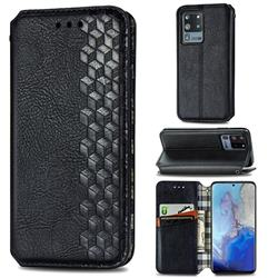 Ultra Slim Fashion Business Card Magnetic Automatic Suction Leather Flip Cover for Samsung Galaxy S20 Ultra / S11 Plus - Black