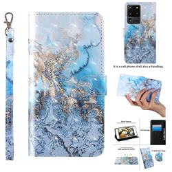 Milky Way Marble 3D Painted Leather Wallet Case for Samsung Galaxy S20 Ultra / S11 Plus
