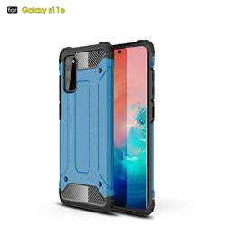 King Kong Armor Premium Shockproof Dual Layer Rugged Hard Cover for Samsung Galaxy S20 / S11e - Sky Blue