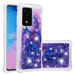 Retro Wind Chimes Dynamic Liquid Glitter Sand Quicksand Star TPU Case for Samsung Galaxy S20 / S11e