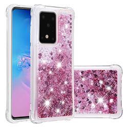 Dynamic Liquid Glitter Sand Quicksand Star TPU Case for Samsung Galaxy S20 / S11e - Diamond Rose
