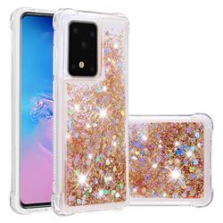 Dynamic Liquid Glitter Sand Quicksand Star TPU Case for Samsung Galaxy S20 / S11e - Diamond Gold