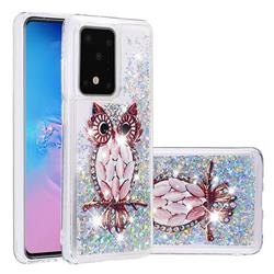 Seashell Owl Dynamic Liquid Glitter Quicksand Soft TPU Case for Samsung Galaxy S20 / S11e