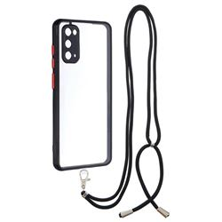 Necklace Cross-body Lanyard Strap Cord Phone Case Cover for Samsung Galaxy S20 - Black