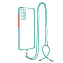 Necklace Cross-body Lanyard Strap Cord Phone Case Cover for Samsung Galaxy S20 - Blue