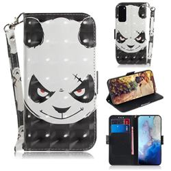 Angry Bear 3D Painted Leather Wallet Phone Case for Samsung Galaxy S20 / S11e