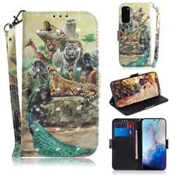 Beast Zoo 3D Painted Leather Wallet Phone Case for Samsung Galaxy S20 / S11e