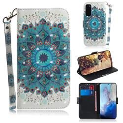Peacock Mandala 3D Painted Leather Wallet Phone Case for Samsung Galaxy S20 / S11e