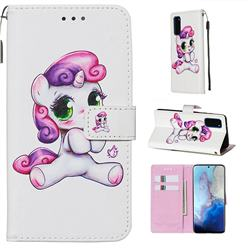 Playful Pony Matte Leather Wallet Phone Case for Samsung Galaxy S20 / S11e