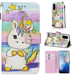 Spiral Pony Matte Leather Wallet Phone Case for Samsung Galaxy S20 / S11e