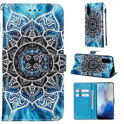 Underwater Mandala Matte Leather Wallet Phone Case for Samsung Galaxy S20 / S11e