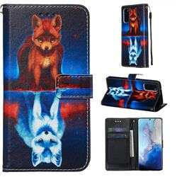 Water Fox Matte Leather Wallet Phone Case for Samsung Galaxy S20 / S11e
