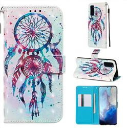 ColorDrops Wind Chimes 3D Painted Leather Wallet Case for Samsung Galaxy S20 / S11e