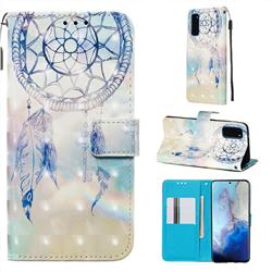 Fantasy Campanula 3D Painted Leather Wallet Case for Samsung Galaxy S20 / S11e