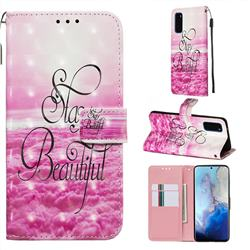 Beautiful 3D Painted Leather Wallet Case for Samsung Galaxy S20 / S11e