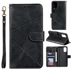 Embossing Geometric Leather Wallet Case for Samsung Galaxy S20 / S11e - Black