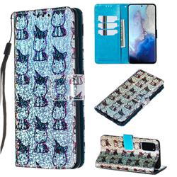 Little Unicorn Sequins Painted Leather Wallet Case for Samsung Galaxy S20 / S11e