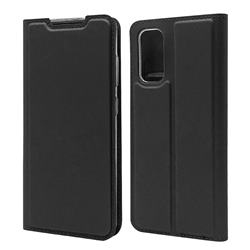 Ultra Slim Card Magnetic Automatic Suction Leather Wallet Case for Samsung Galaxy S20 / S11e - Star Grey