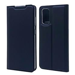 Ultra Slim Card Magnetic Automatic Suction Leather Wallet Case for Samsung Galaxy S20 / S11e - Royal Blue