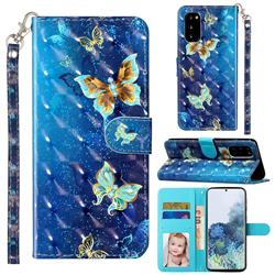 Rankine Butterfly 3D Leather Phone Holster Wallet Case for Samsung Galaxy S20 / S11e