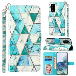 Stitching Marble 3D Leather Phone Holster Wallet Case for Samsung Galaxy S20 / S11e