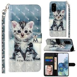 Kitten Cat 3D Leather Phone Holster Wallet Case for Samsung Galaxy S20 / S11e