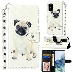 Pug Dog 3D Leather Phone Holster Wallet Case for Samsung Galaxy S20 / S11e