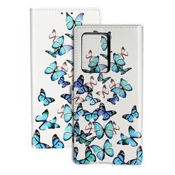 Blue Vivid Butterflies PU Leather Wallet Case for Samsung Galaxy S20 / S11e