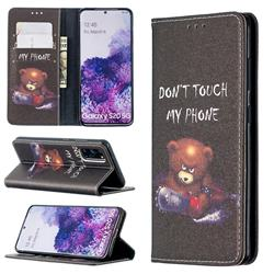 Chainsaw Bear Slim Magnetic Attraction Wallet Flip Cover for Samsung Galaxy S20