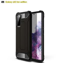 King Kong Armor Premium Shockproof Dual Layer Rugged Hard Cover for Samsung Galaxy S20 FE / S20 Lite - Black Gold