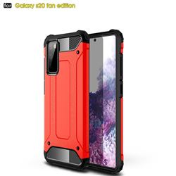 King Kong Armor Premium Shockproof Dual Layer Rugged Hard Cover for Samsung Galaxy S20 FE / S20 Lite - Big Red