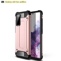 King Kong Armor Premium Shockproof Dual Layer Rugged Hard Cover for Samsung Galaxy S20 FE / S20 Lite - Rose Gold