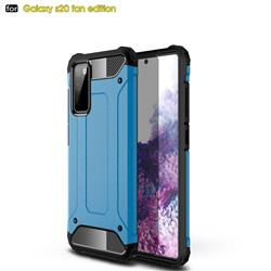 King Kong Armor Premium Shockproof Dual Layer Rugged Hard Cover for Samsung Galaxy S20 FE / S20 Lite - Sky Blue