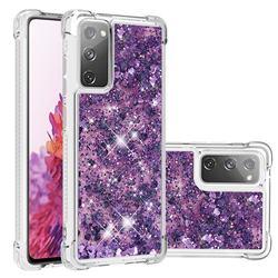 Dynamic Liquid Glitter Sand Quicksand Star TPU Case for Samsung Galaxy S20 FE / S20 Lite - Purple