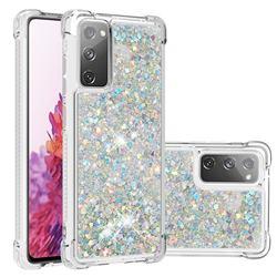 Dynamic Liquid Glitter Sand Quicksand Star TPU Case for Samsung Galaxy S20 FE / S20 Lite - Silver