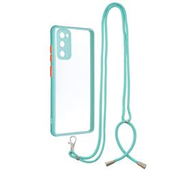 Necklace Cross-body Lanyard Strap Cord Phone Case Cover for Samsung Galaxy S20 FE / S20 Lite - Blue