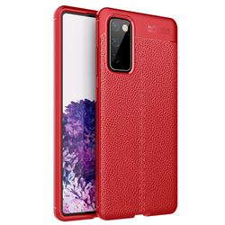 Luxury Auto Focus Litchi Texture Silicone TPU Back Cover for Samsung Galaxy S20 FE / S20 Lite - Red