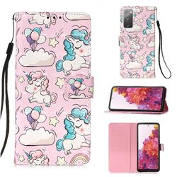 Angel Pony 3D Painted Leather Wallet Case for Samsung Galaxy S20 FE / S20 Lite
