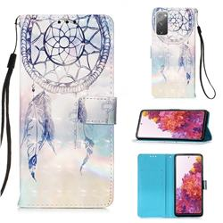 Fantasy Campanula 3D Painted Leather Wallet Case for Samsung Galaxy S20 FE / S20 Lite